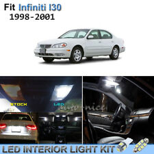 10pcs Bright White Interior LED Lights Package Kit For 1998-2001 Infiniti I30