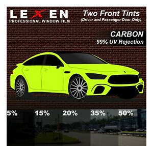 TWO FRONT Windows PreCut 2Ply Premium CARBON Film Kit Computer Cut Glass Tint