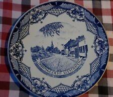 "11.6"" Vintage Dutch Plate Wall Charger Delft Blue &White of a Dutch Village"