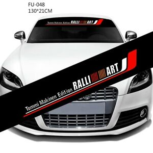 1Pcs WRC Tommi Makinen Edition Ralliart Racing Decals Car Front Windshie Sticker