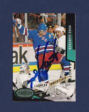 Mike Gartner signed New York Rangers 1993 Parkhurst hockey card
