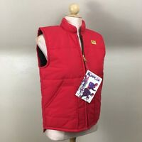 Vintage Swingster Mens Sz S Puffer Vest Red NOS Kent Logo NWT Zip Front Supplex