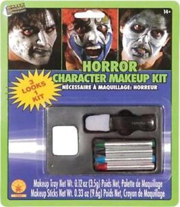 Horror Makeup Kit Zombie Clown Fancy Dress Up Halloween Adult Costume Accessory