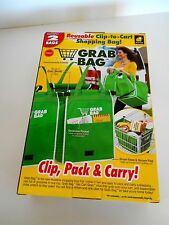 GRAB BAG 2 PACK CLIP-TO-CART SHOPPING BAG! AS SEEN ON TV