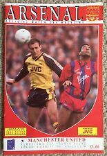 ARSENAL v MANCHESTER UNITED, FOOTBALL PROGRAMME - RUMBELOWS CUP 4TH ROUND 1990