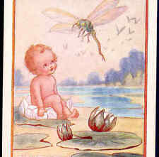 """Scarce.""""Water-Babies """" Fairy Tale,Baby Talks To Dragonfly,F. White Postcard"""