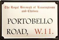 Portobello Road Blechschild Schild 3D geprägt gewölbt Metal Tin Sign 20 x 30 cm