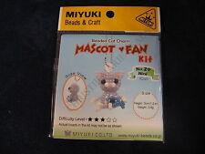 MIYUKI BEAD KIT CAT MASCOT CHARM WITH INSTRUCTIONS