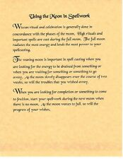 Book of Shadows Spell Pages ** Using the Moon in Spell work ** Wicca Witchcraft