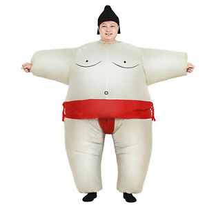 Sumo Adult Inflatable Fancy Dress Outfit Funny Costume Outfit Suits Party Xmas
