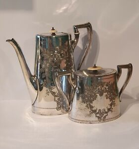 Silver Plated Tea Pot Set by Philip Ashberry & Sons. (1856-1935).
