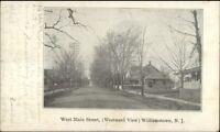 Williamstown NJ West Main Street c1905 Postcard