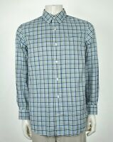Duluth Trading Co. Wrinklefighter White Plaid Button Shirt Mens Large