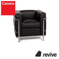 Cassina Le Corbusier LC 2 Leder Sessel Schwarz