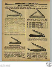 1929 PAPER AD Push Button Pocket Knife Knives Schrade Safety Elks Club Emblem