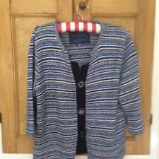 Per Una Blue mix stripes cardigan , size xL 16-18