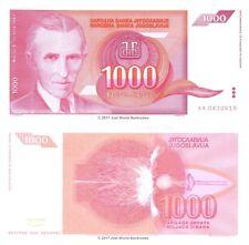 Yugoslavia 1000 Dinara 1992 P-114 First Prefix AA Banknotes UNC