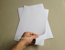 20 Sheets A4 White Glossy Self Adhesive Sticker Photographic Photo Printer Paper