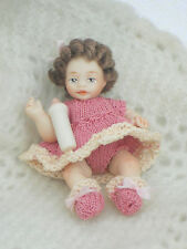 "12TH SCALE DOLL HOUSE DOLL ARTIST MADE BABY/ TODDLER DOLL 2.1/2"" LONG..LOT 4"