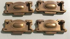 4 large cabinet handles brass furniture vintage age old style 110mm heavy