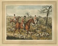 "1825- Henry Thomas Alken, Fox Hunting, antique, Dogs, 20""x16"" Art Print"