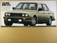 1987 BMW 325i Sports Sedan color photos vintage print Ad