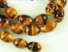 Natural 6x9mm African Tiger Eye Rice Loose Beads 15''