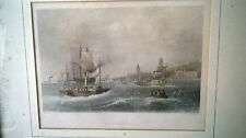 Fine print/engraving Paddle steamers at Gravesend H Adlard,W H Bartlett. Findens