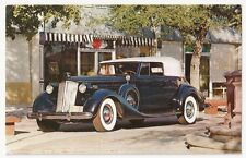 Packard 1937 V-12 Convertible Victoria with  Body by Dietrich Vintage Postcard