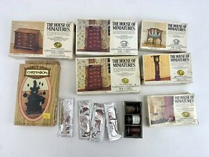 Vtg Lot 7 House of Miniatures Dollhouse Furniture Kit Queen Anne Antique Style
