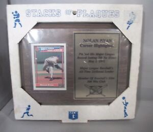 Vintage MLB Nolan Ryan 6in. X 8in. Card Plaque by Stacks of Plaques 1991