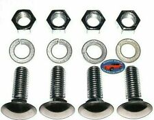 """Chrysler 1/2""""x1-1/2"""" Thread Round Stainless Capped Front Rear Bumper Bolts 4pc C"""