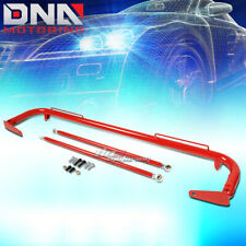 """49"""" STAINLESS RACING PROTECTION SAFETY SEAT BELT CHASSIS HARNESS BAR ROD RED"""