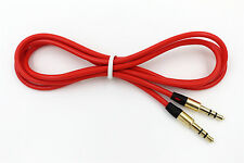 RED 3.5mm Audio Cable Car AUX-In Cord Lead for Proscan PSB296 Speaker