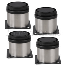 Furniture Cabinet Metal Legs Stainless Steel Kitchen Feet Round Pack of 4