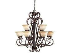World Imports Olympus Tradition 12-Light Crackled Bronze Chandelier