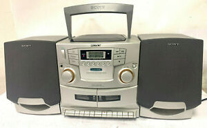 Sony CFD-ZW755 CD/Radio/Cassette Boombox - MINT Condition, Perfect!