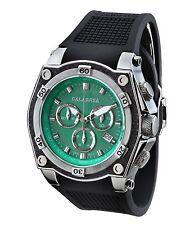 CALABRIA - AVVENTURA -Green Dial Chronograph Men's Watch with Carbon Fiber Bezel
