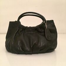 SWEET VINTAGE 80s RAVEL MINI BLACK LEATHER EVENING / TOTE BAG NEVER USED