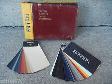 FERRARI DEALER CARPET, PAINT & LEATHER SAMPLES IN EXCELLENT CONDITION