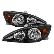 Spyder Auto 2002-2004 Toyota Camry Factory Style Black Headlights Set 9029738