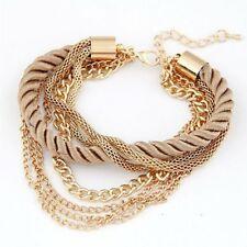 New Handmade Design Multi-layer Chain Jewelry Charm Bangle Women Bracelets