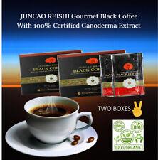 Organic Certified Ganoderma Reishi Mushroom Instant Black Coffee  TWO BOXES!