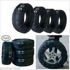 4 Pcs Black Nylon Car Seasonal Tire Storage Bag Protector Cover For Honda Toyota