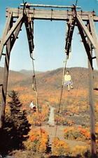 RUTLAND, VT Vermont  PICO PEAK  Women on Chair Lift~Summer  1957 Chrome Postcard
