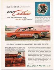 1961 Oldsmobile Olds F-85 Cutlass Sports Coupe Automobile Car Vtg Print Ad