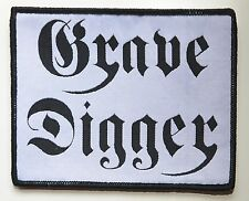 GRAVE DIGGER - Black-Logo - White-Patch - 10 cm x 12,6 cm - 164212
