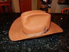 Vintage The Westerner Cowboy Hat Brown Setson Size 7 1/8 - Euc