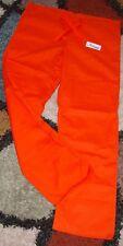 GelScrubs Unisex Drawstring Scrub Pant W/ Back Pocket Orange Style 6558 Small