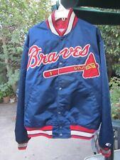 Vintage 90s Atlanta Braves Satin Starter Jacket Large Diamond Collection